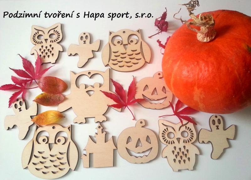 Dřevěné výřezy :   Podzim a Halloween